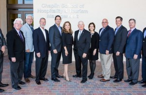 Members of the inaugural Chaplin School Dean's Advisory Council include from left to right, John McKibbon, Bill Talbert, Eric Pfeffer, Duffy Keys, Phil Goldfarb, Lani Kane-Hanan, Mike Hampton, Wendy Kallergis, Paul Livieri, Ed Mugnani, Jay Litt and Burt Cabanas.