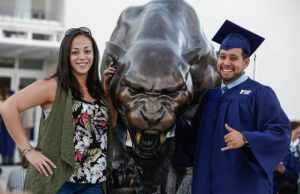 50@50: Panther statue leads to new commencement tradition