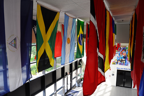 Flags of our campus