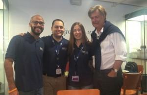 From left to right: Eliyaim Gonzalez, Aquiles Consuegra,  Natalia Liviero and Professor  Tudor Parfitt.