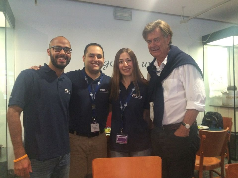 From left to right: Eliyaim Gonzalez, Aquiles Consuegra,  Natalia Liviero and Professor  Tudor Parfitt.
