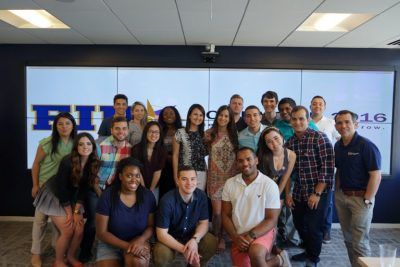 FIU student interns convene at FIU in D.C. for the Summer 2016 program orientation