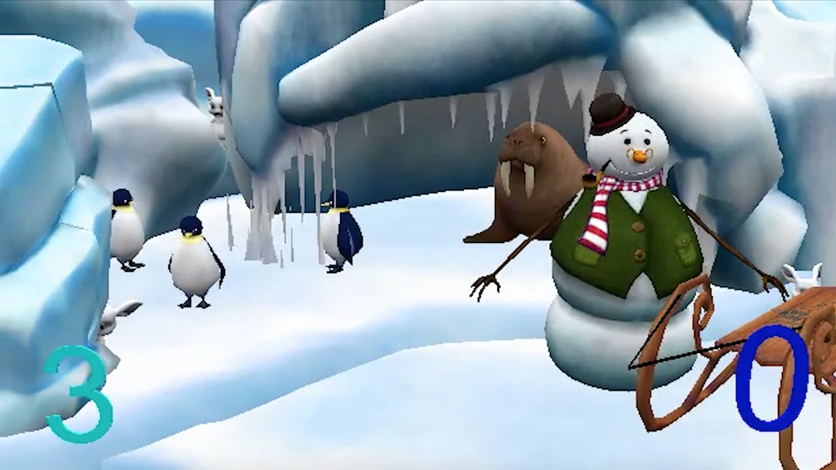 Isabel Rabalais, who took the class in spring of 2016, created a game in I-Spy style, in which users are asked to find a rabbit among different settings such as this icy scene.