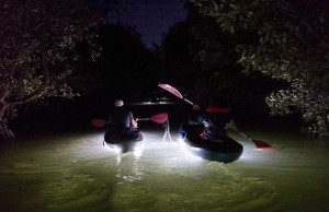 BBC takes kayaking into the dark