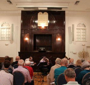 """The Amernet kicked off the five-part concert series entitled """"Journey Through Sound: Exploring Jewish Life Through Music"""" with a performance on Nov. 12 entitled """"In Commemoration of Kristallnacht."""""""