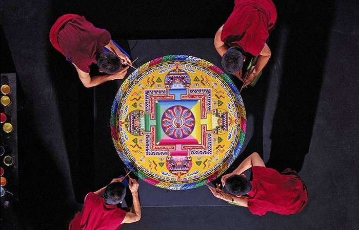 Tibetan Buddhist monks to construct mandala sand painting at FIU