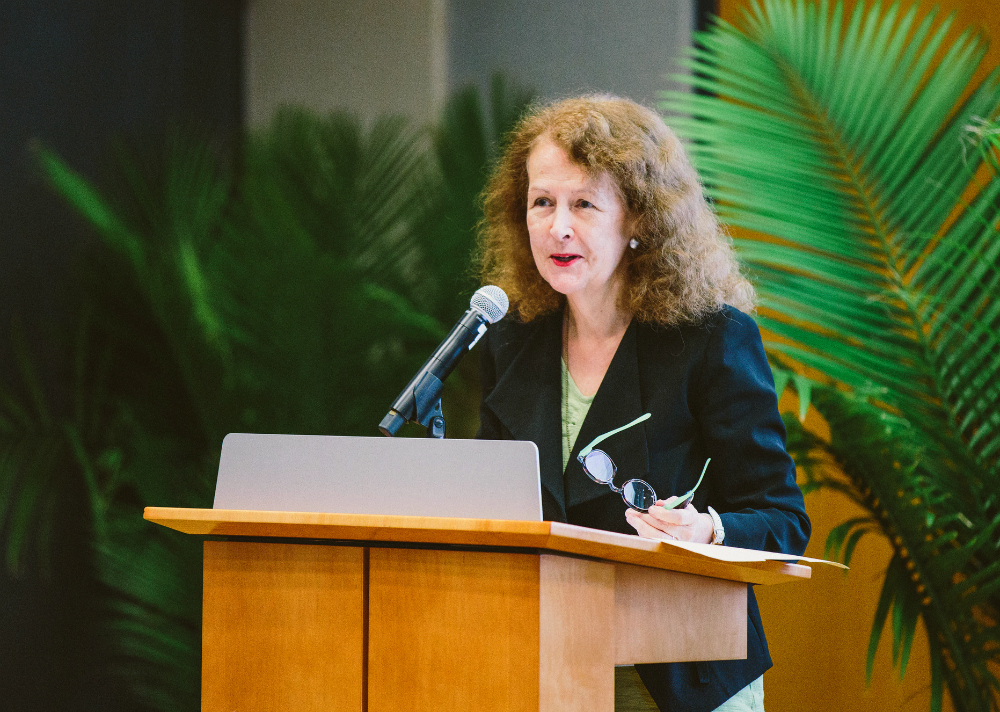 Marianna Craven, the managing director of academic programs at the U.S. Department of State's Bureau of Educational and Cultural Affairs, spoke about opportunities to study abroad with the DOS at FIU on July 13.