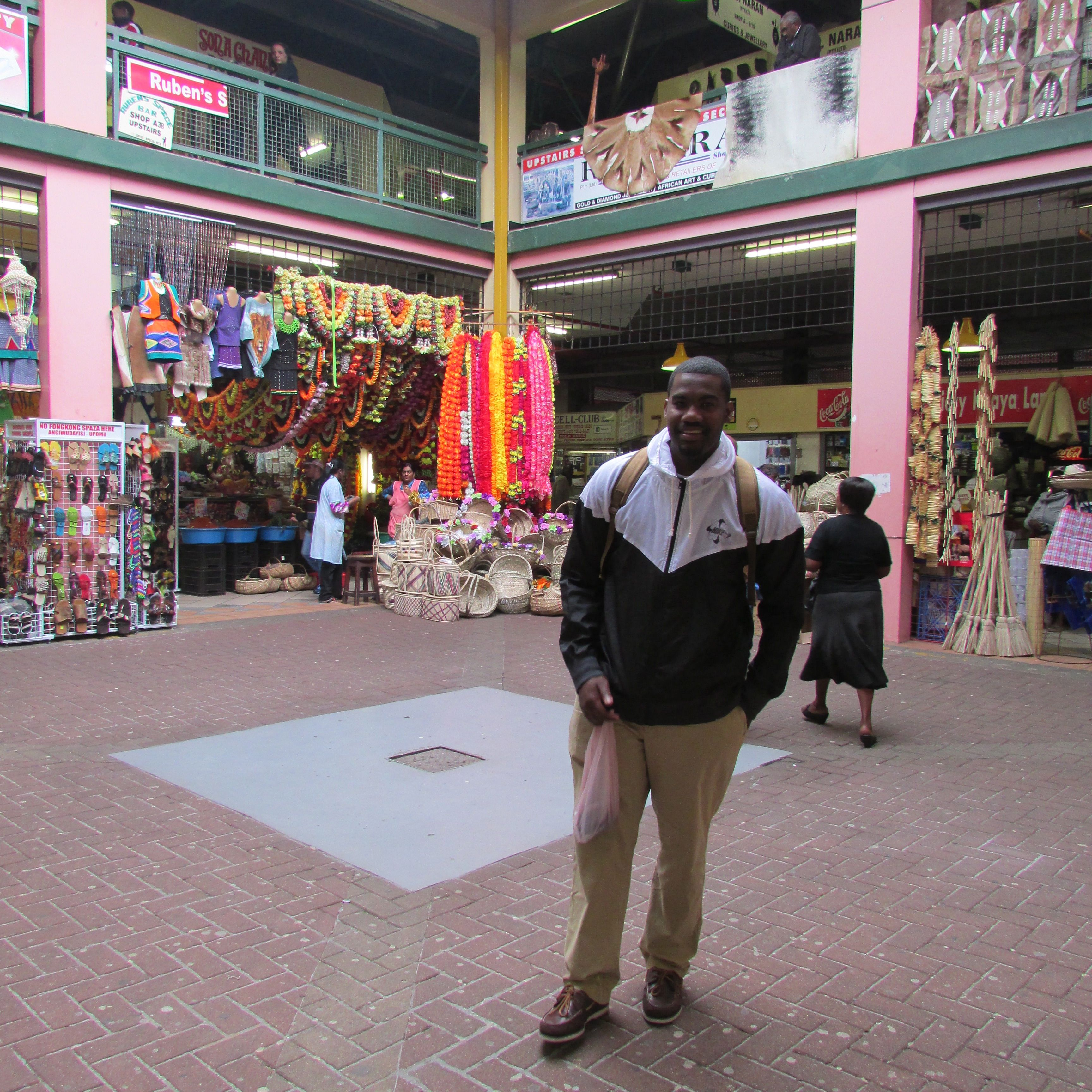 Dontay Proctor-Mills at the Victorian Market in Durban