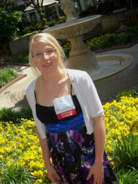 "Whitney ""Olivia"" Wills last year at a conference for recipients of the Horatio Alger National Scholarship."