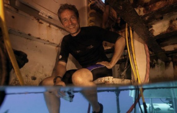 Fabien Cousteau visited the Aquarius Reef Base in 2012. He will return to the underwater research facility in June to embark on a 31-day mission.
