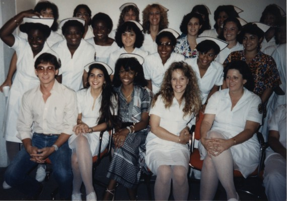 An early class of FIU nursing students.