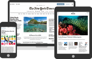 Student access to The New York Times has gone digital