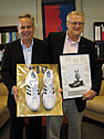 Founding Faculty Fellow Bruce Hauptli passes Big Shoes to Fill to John Stuart