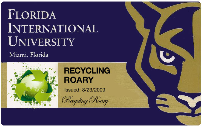 Recycling Roary Panther Card