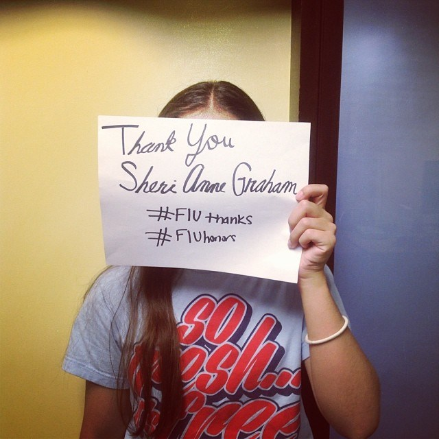 Say thanks to our donors on social media with #FIUThanks