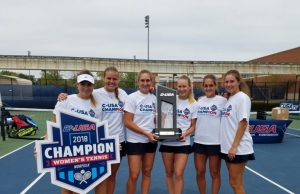 Women's tennis claims first championship title