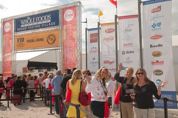 Entrance to the Grand Tasting Village of the 2010 South Beach Wine & Food Festival