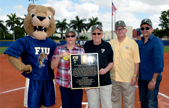 Softball honors Michael Felsberg in field dedication ceremony