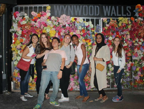 G1Y students tour the Wynwood Walls in Miami's famous warehouse district
